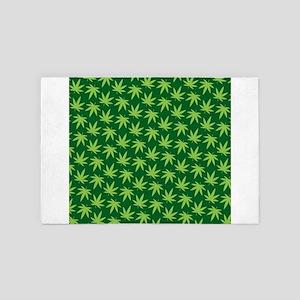 Marijuana Pattern 4' x 6' Rug