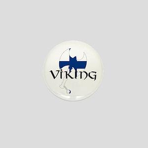 Finland Viking Mini Button