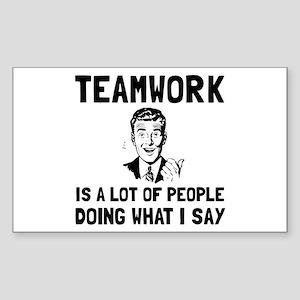 Teamwork Say Sticker
