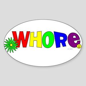 Whore Rectangle Sticker