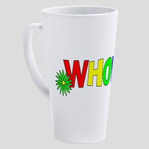 Cute 70s WHORE Design 17 oz Latte Mug