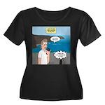 How to F Women's Plus Size Scoop Neck Dark T-Shirt