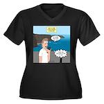 How to Find Women's Plus Size V-Neck Dark T-Shirt