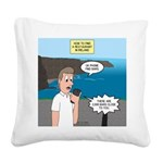 How to Find a Restaurant in I Square Canvas Pillow