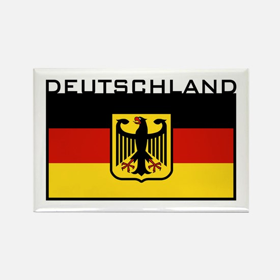 Deutschland Flag Rectangle Magnet