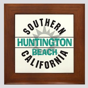 Huntington Beach California Framed Tile