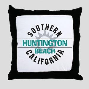 Huntington Beach California Throw Pillow