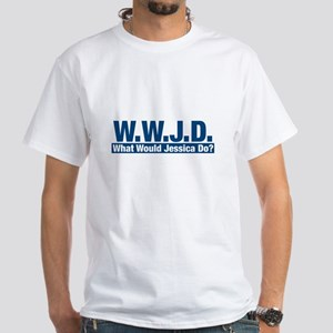 WWJD What Would Jessica Do? White T-Shirt
