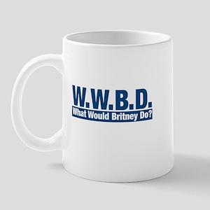 WWBD What Would Brtiney Do? Mug