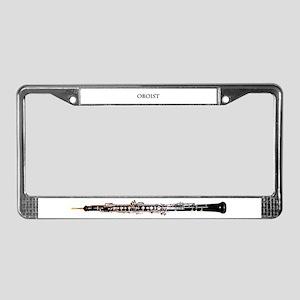 Oboe License Plate Frame
