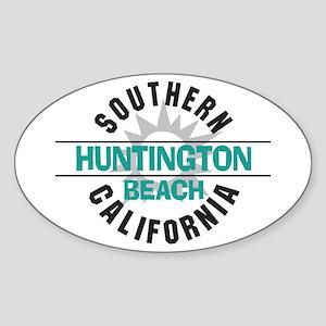 Huntington Beach California Oval Sticker