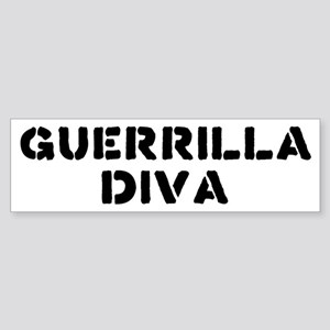 Guerrilla Diva Bumper Sticker