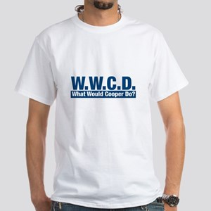 WWCD What Would Cooper Do? White T-Shirt