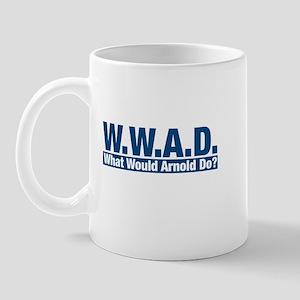 WWAD What Would Arnold Do? Mug