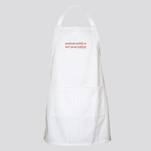 Proofread carefully BBQ Apron
