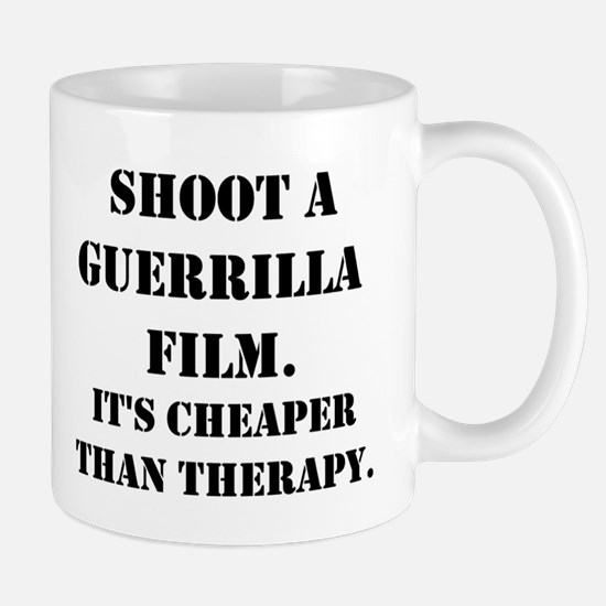 Guerrilla film therapy Mug