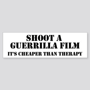 Guerrilla film therapy Bumper Sticker