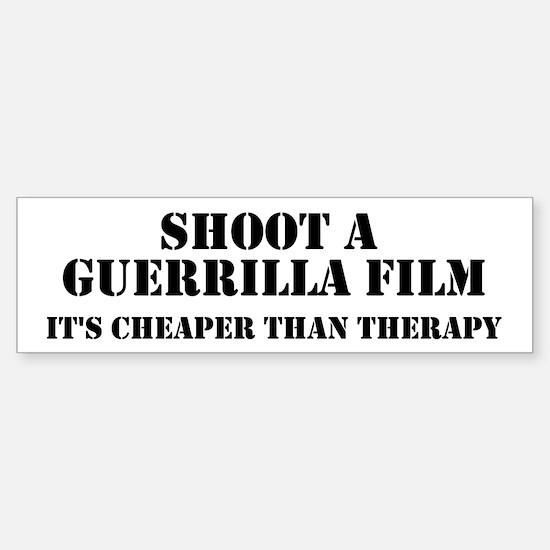 Guerrilla film therapy Bumper Bumper Bumper Sticker