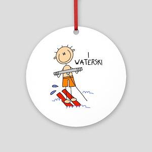 I Waterski Ornament (Round)