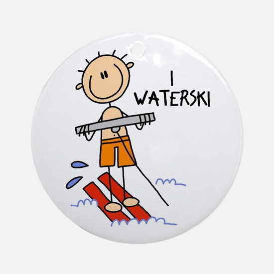 I Waterski Ornament (Round)