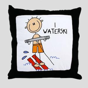 I Waterski Throw Pillow