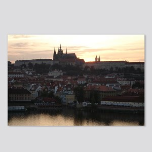 Prague Castle at Sunset Postcards (Package of 8)