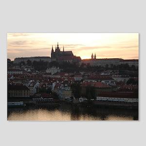 Prague Castle at Sunset Postcards (Package of 8)