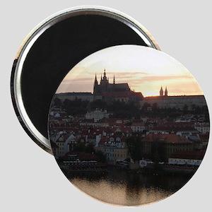 Prague Castle at Sunset Magnet
