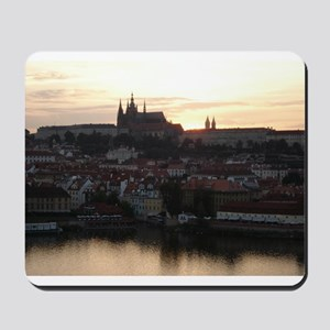 Prague Castle at Sunset Mousepad