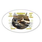 """""""Friends"""" Oval Sticker (10 pk)"""
