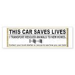 """This Car Saves Lives"" Sticker (Bumper 5"