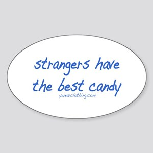Strangers Candy Oval Sticker