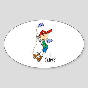 I Climb Oval Sticker