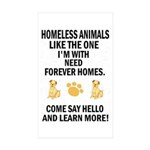 """Homeless Animals"" Rectangle Sticker 50"