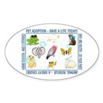 """Slogans"" Oval Sticker (50 pk)"