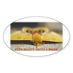 """""""Beauty Break"""" Oval Sticker (10 pk)"""
