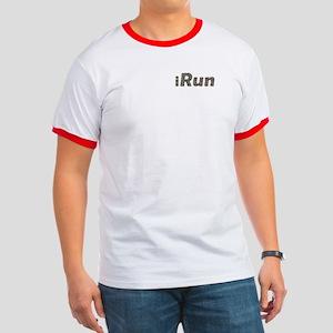 iRun, sprinkle (front & back) Ringer T