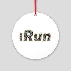 iRun, sprinkle Ornament (Round)