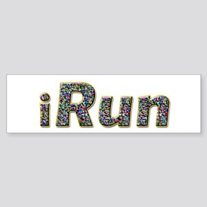 iRun, sprinkle Bumper Sticker