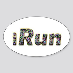 iRun, sprinkle Oval Sticker
