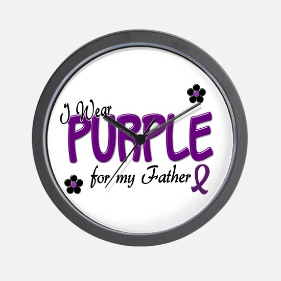 I Wear Purple For My Father 14 Wall Clock