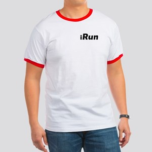 iRun, shadow (front & back) Ringer T