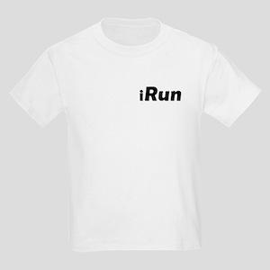 iRun, shadow (front & back) Kids Light T-Shirt