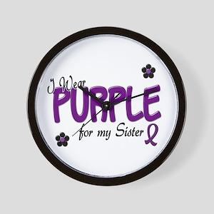 I Wear Purple For My Sister 14 Wall Clock