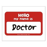 Doctor Name Tag Small Poster