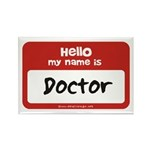 Doctor Name Tag Rectangle Magnet