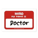 Doctor Name Tag Postcards (Package of 8)