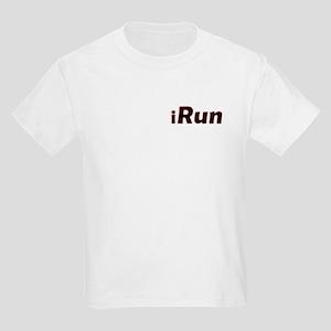iRun, red trim (front & back) Kids Light T-Shirt
