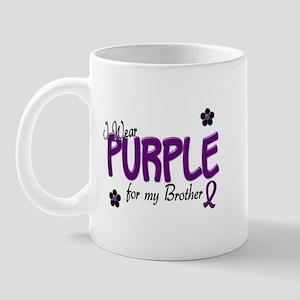 I Wear Purple For My Brother 14 Mug