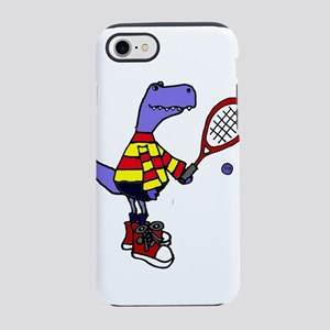 T-rex Playing Squash iPhone 8/7 Tough Case